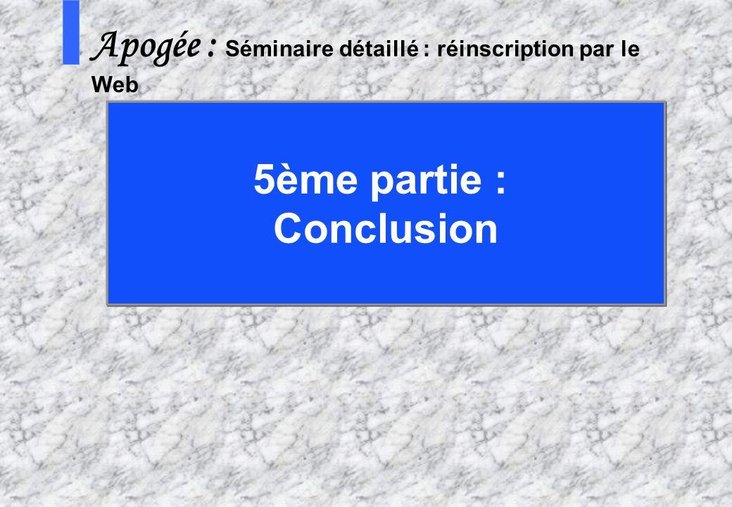 5ème partie : Conclusion