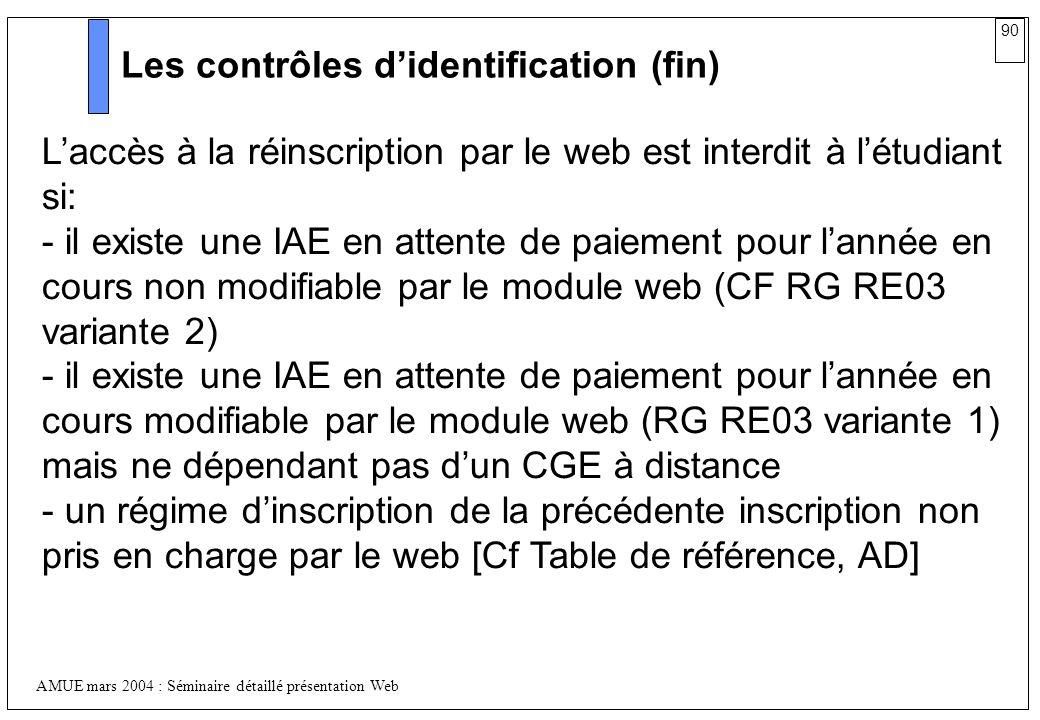 Les contrôles d'identification (fin)