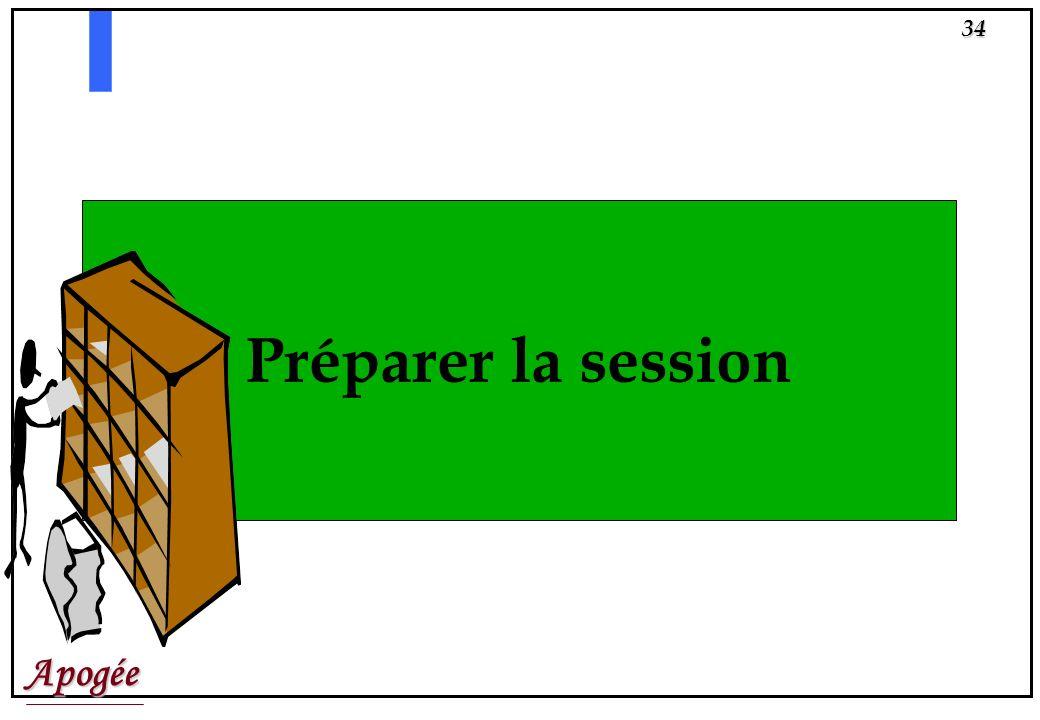 Préparer la session
