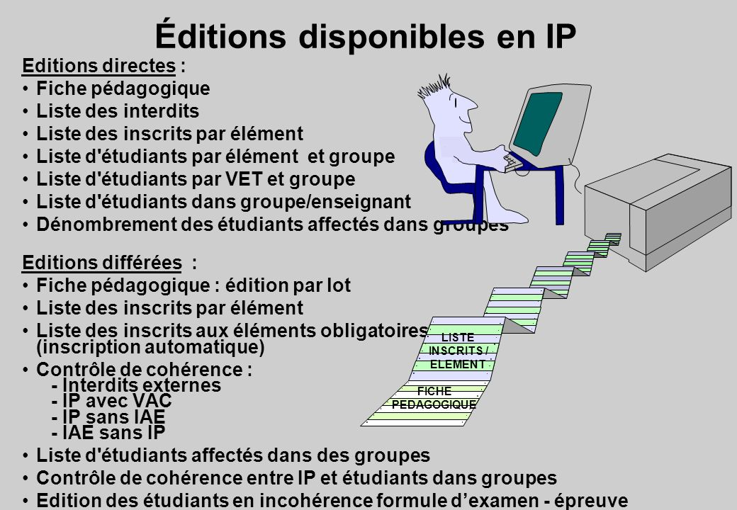 Éditions disponibles en IP