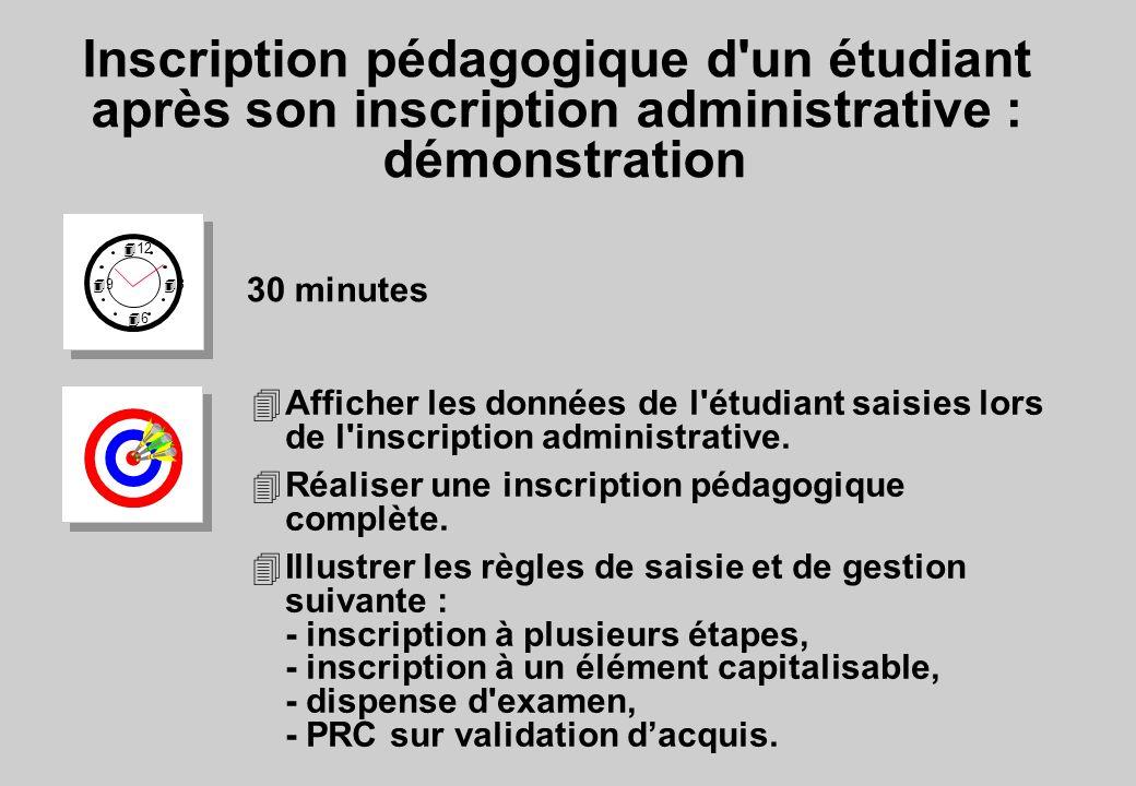 Inscription pédagogique d un étudiant après son inscription administrative : démonstration