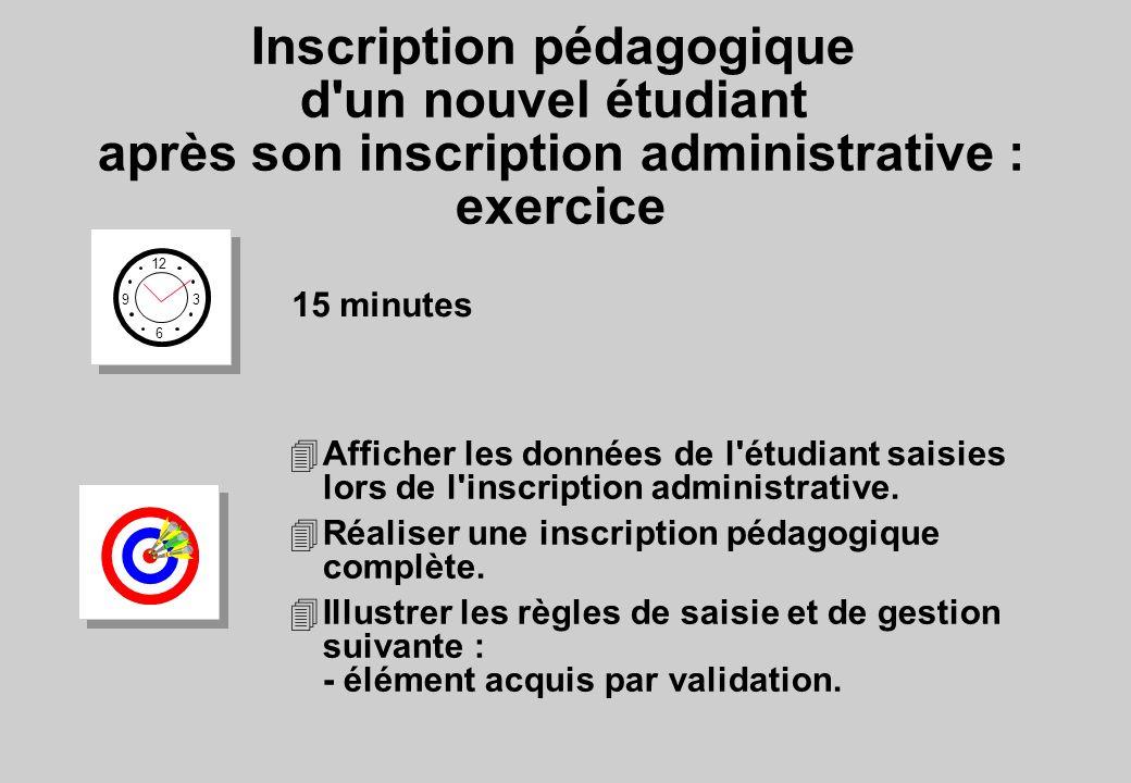 Inscription pédagogique d un nouvel étudiant après son inscription administrative : exercice