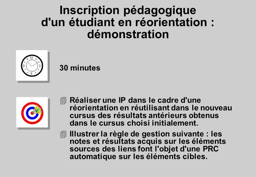 Inscription pédagogique d un étudiant en réorientation : démonstration