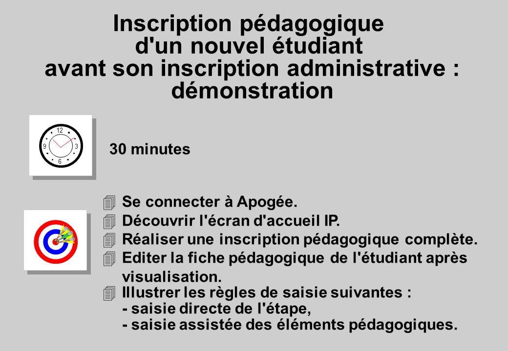 Inscription pédagogique d un nouvel étudiant avant son inscription administrative : démonstration