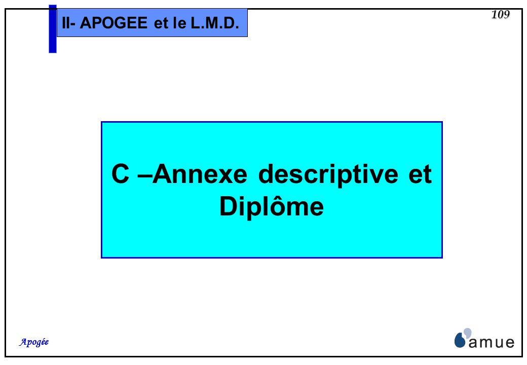 C –Annexe descriptive et Diplôme