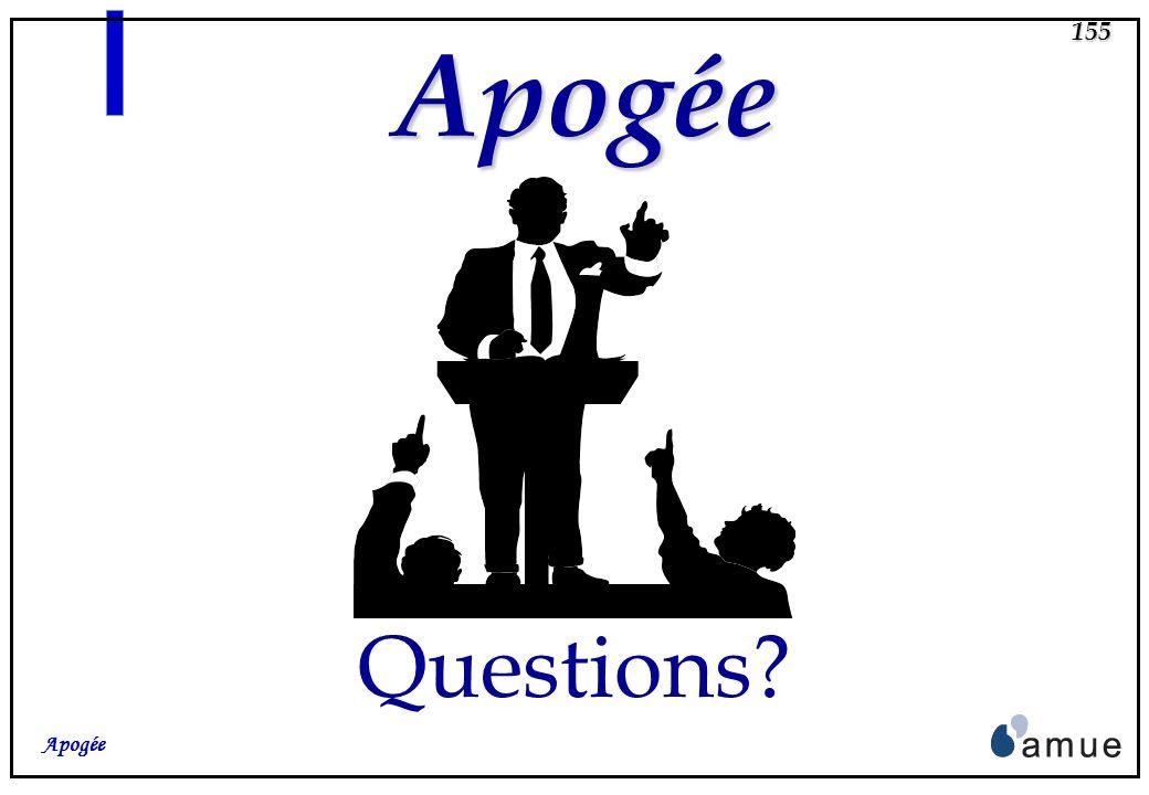 Apogée Questions