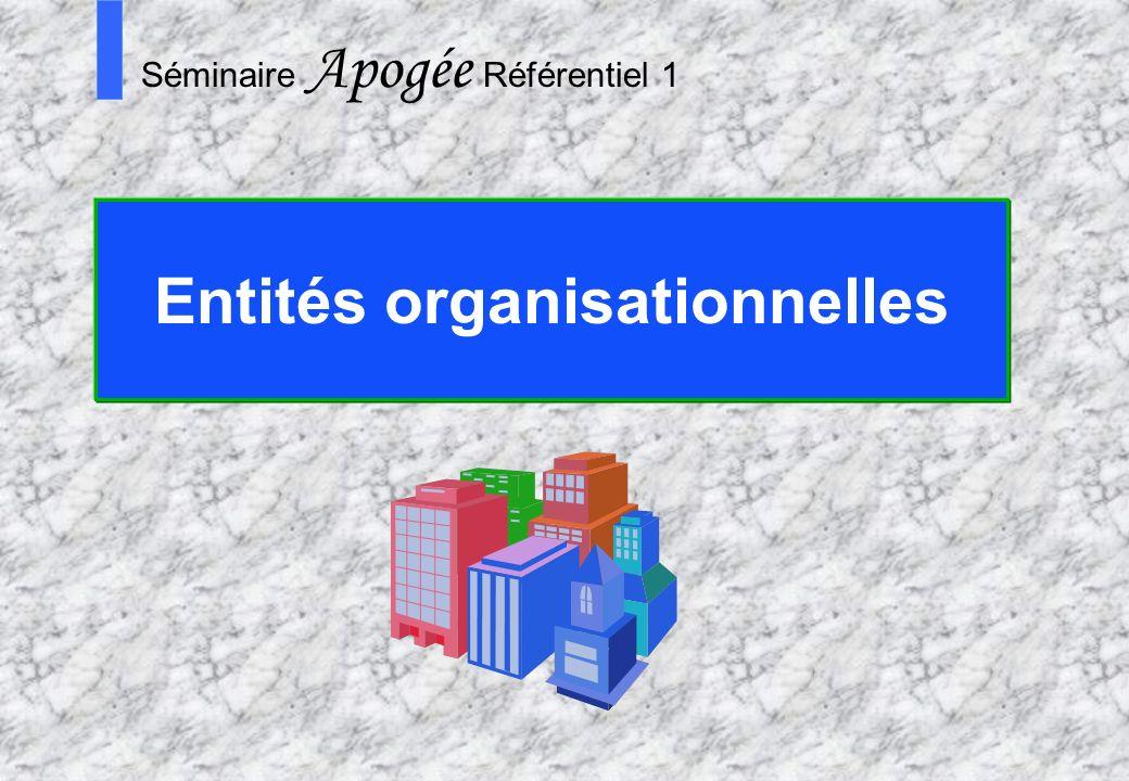 Entités organisationnelles