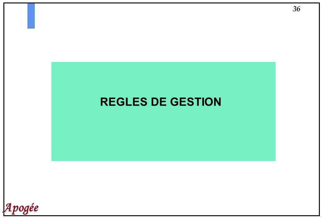 REGLES DE GESTION