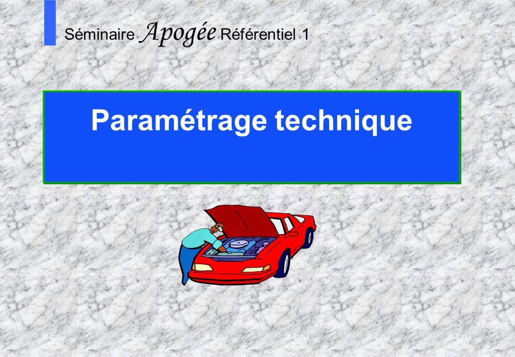 Paramétrage technique