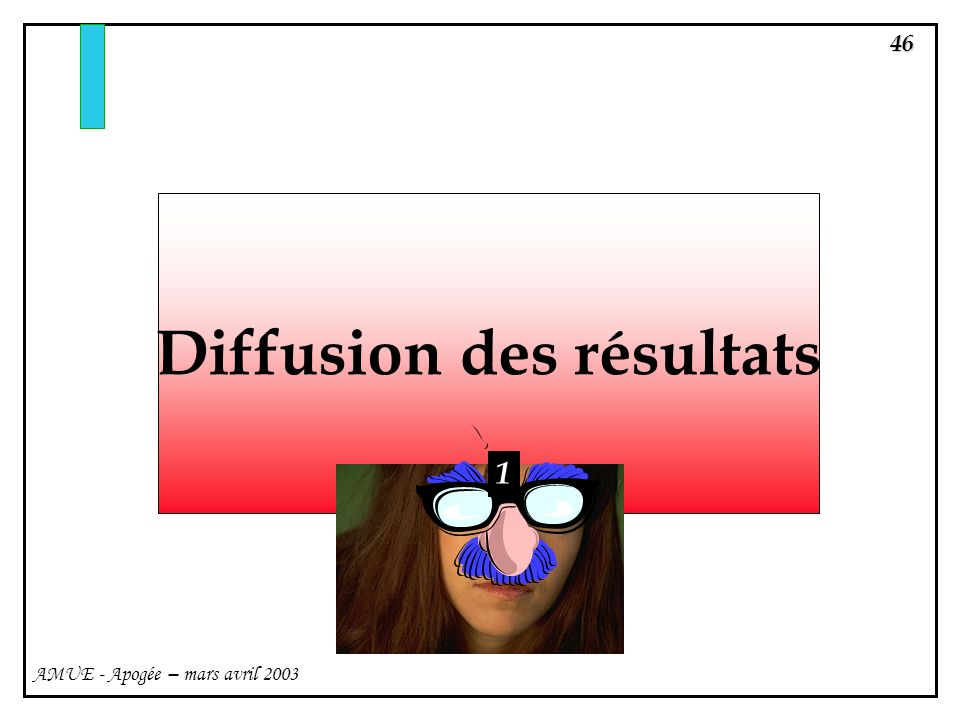 Diffusion des résultats