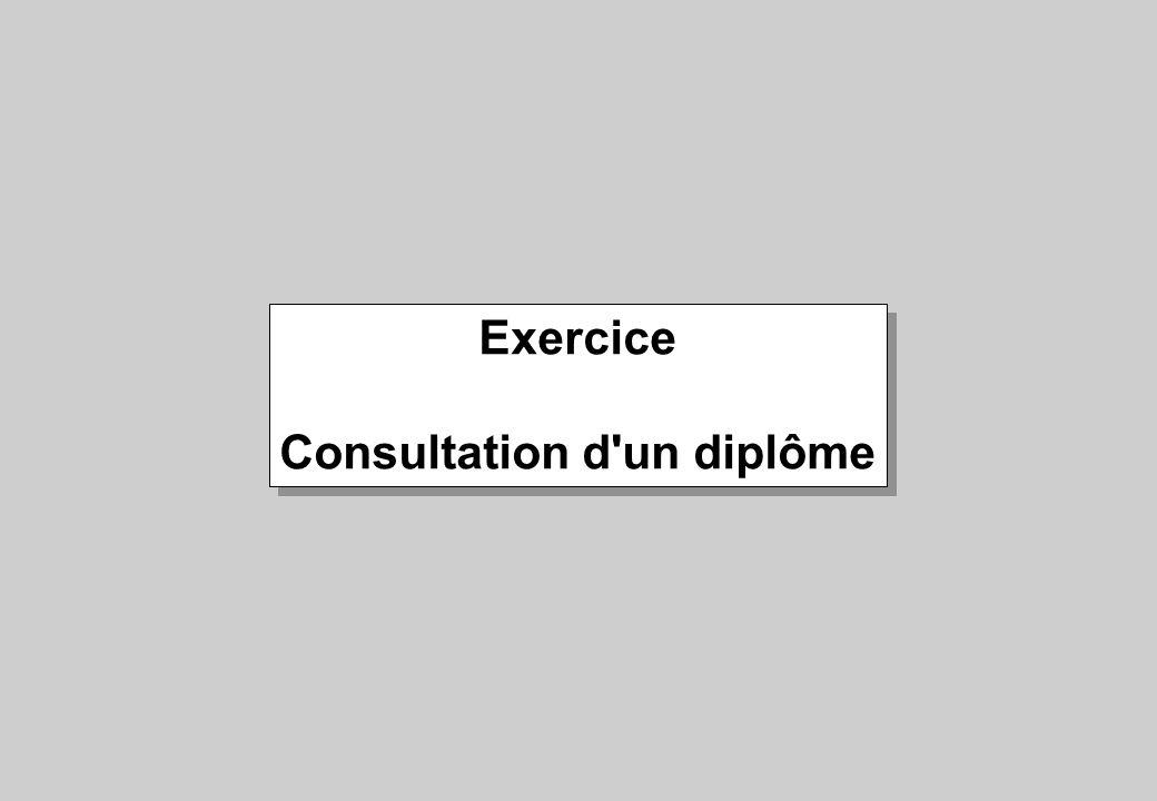 Consultation d un diplôme