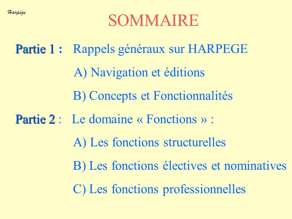 SOMMAIRE Partie 1 : Rappels généraux sur HARPEGE