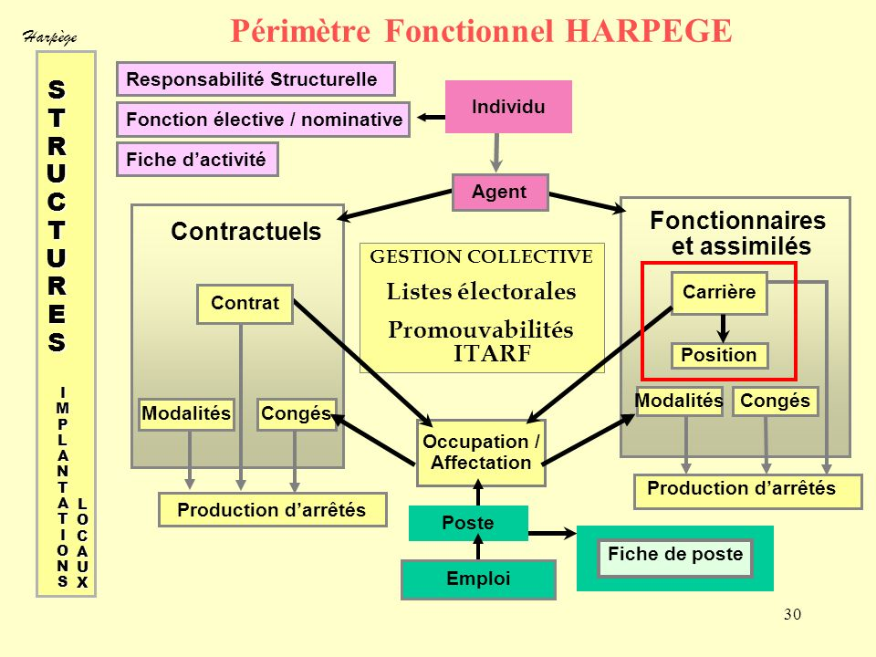 Périmètre Fonctionnel HARPEGE
