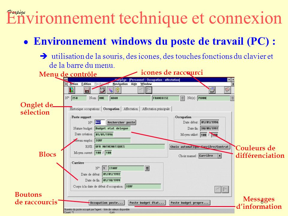 Environnement technique et connexion