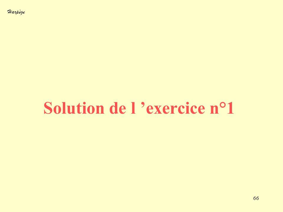 Solution de l 'exercice n°1