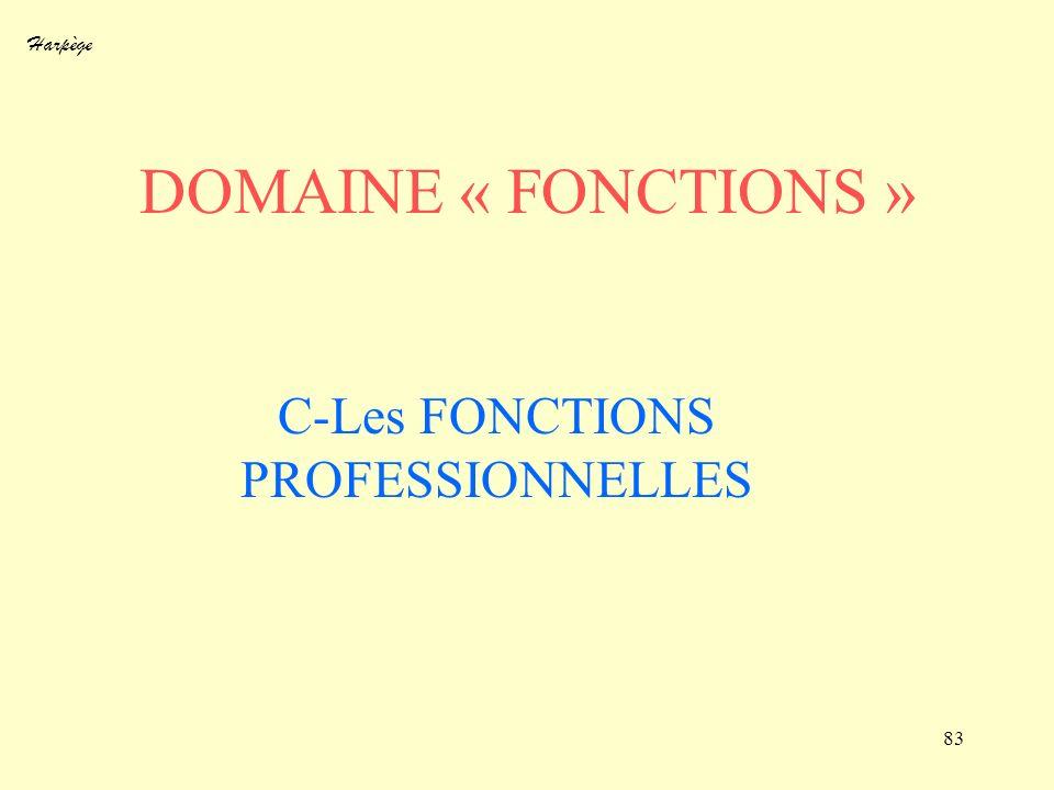 C-Les FONCTIONS PROFESSIONNELLES