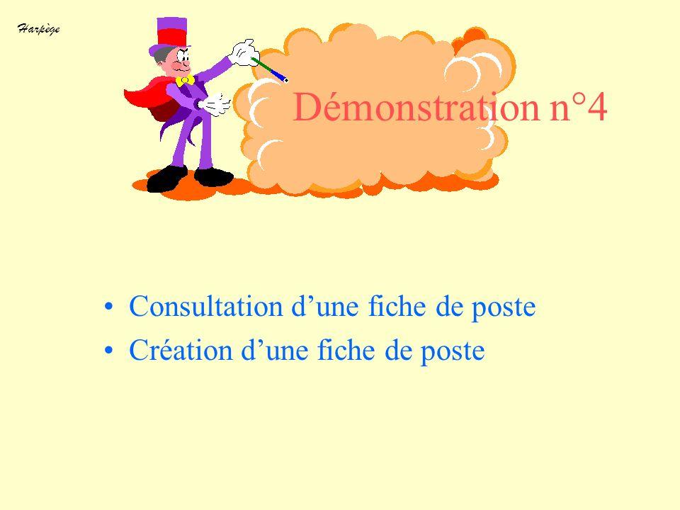 Démonstration n°4 Consultation d'une fiche de poste