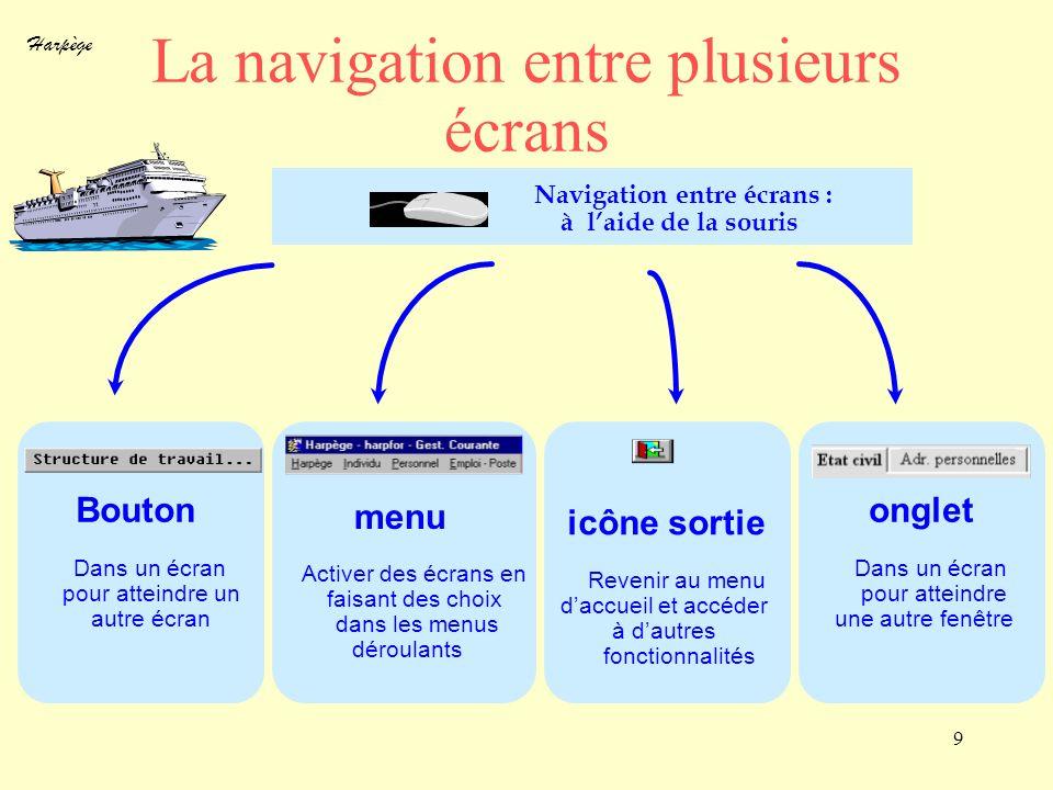La navigation entre plusieurs écrans