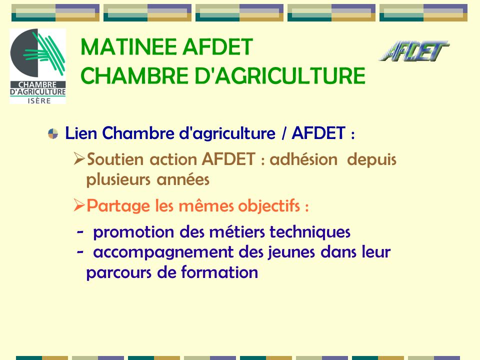 MATINEE AFDET CHAMBRE D AGRICULTURE
