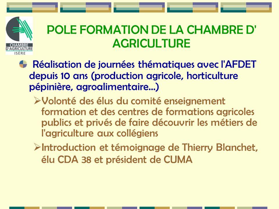 POLE FORMATION DE LA CHAMBRE D AGRICULTURE