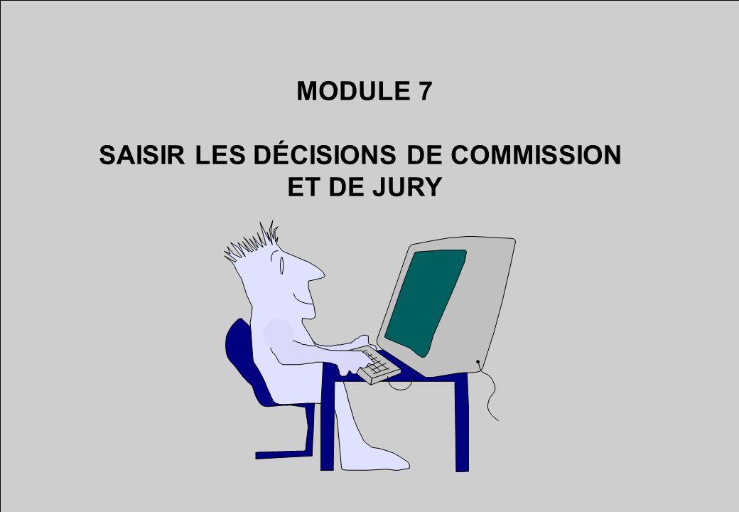 SAISIR LES DÉCISIONS DE COMMISSION