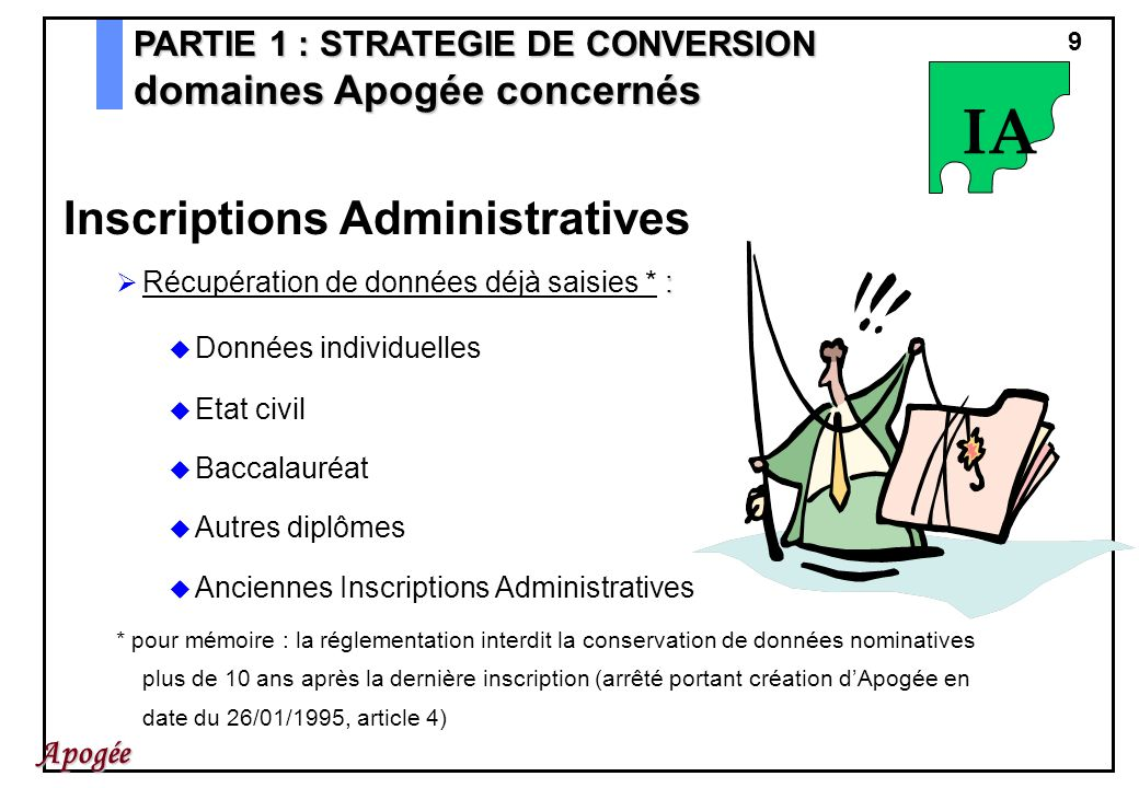 IA Inscriptions Administratives domaines Apogée concernés