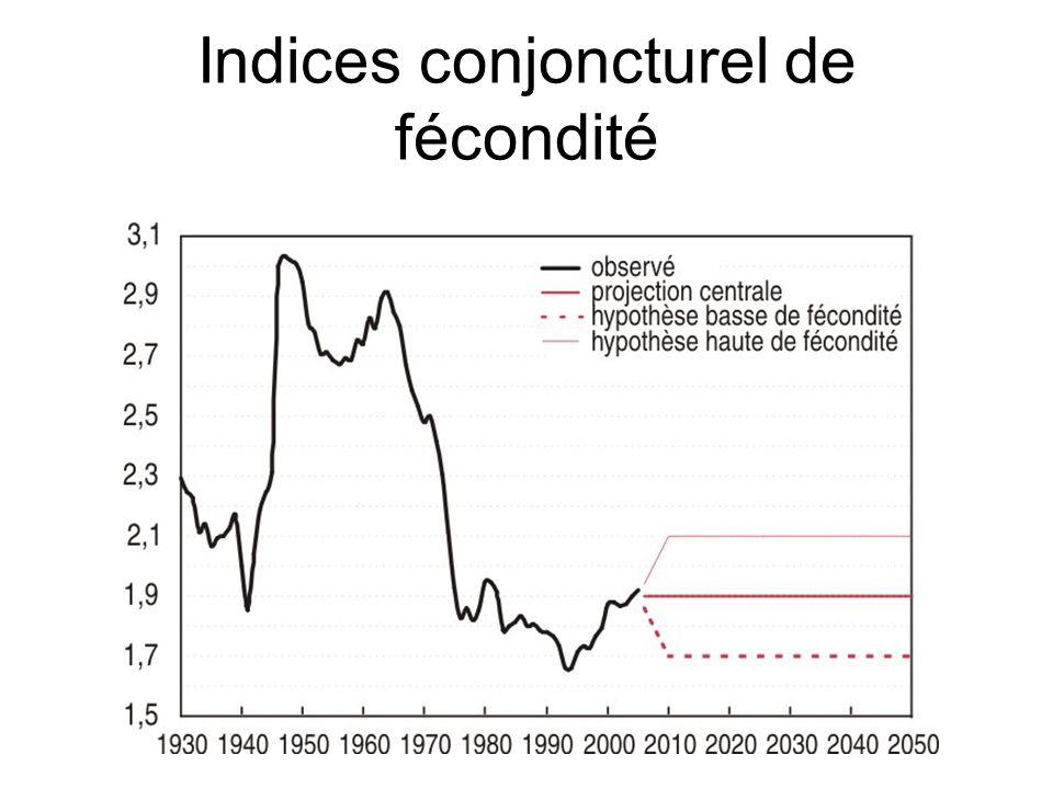 Indices conjoncturel de fécondité