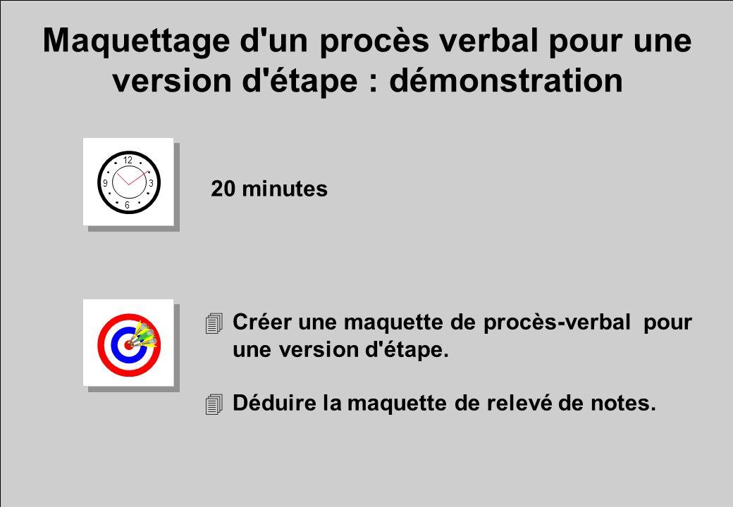 Maquettage d un procès verbal pour une version d étape : démonstration