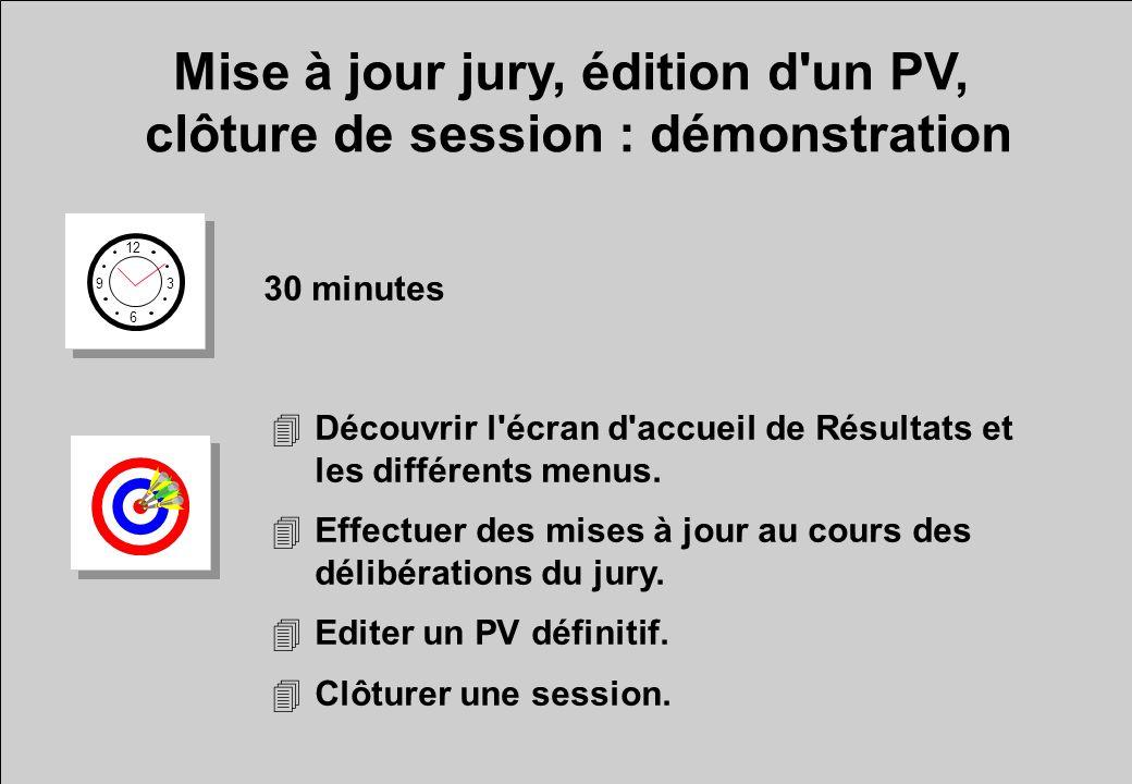 Mise à jour jury, édition d un PV, clôture de session : démonstration