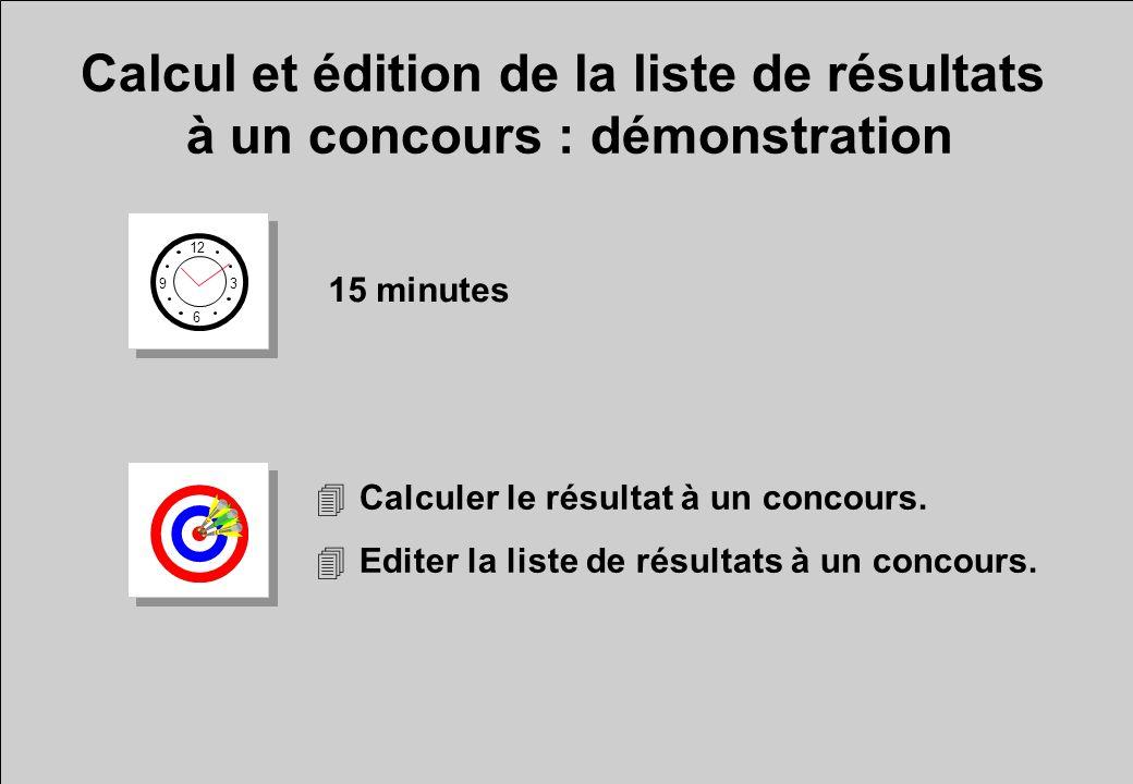 Calcul et édition de la liste de résultats à un concours : démonstration