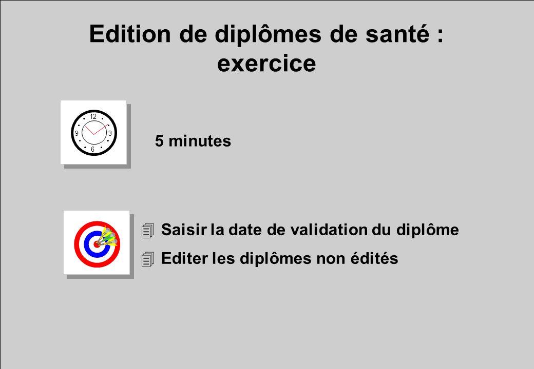 Edition de diplômes de santé : exercice