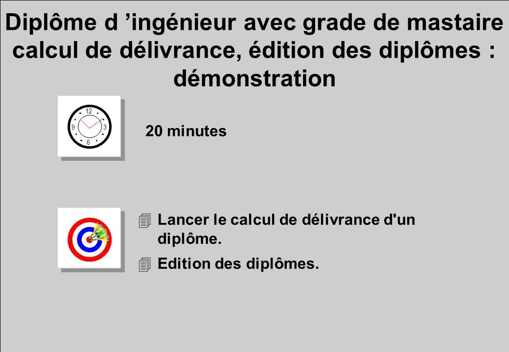 Diplôme d 'ingénieur avec grade de mastaire calcul de délivrance, édition des diplômes : démonstration