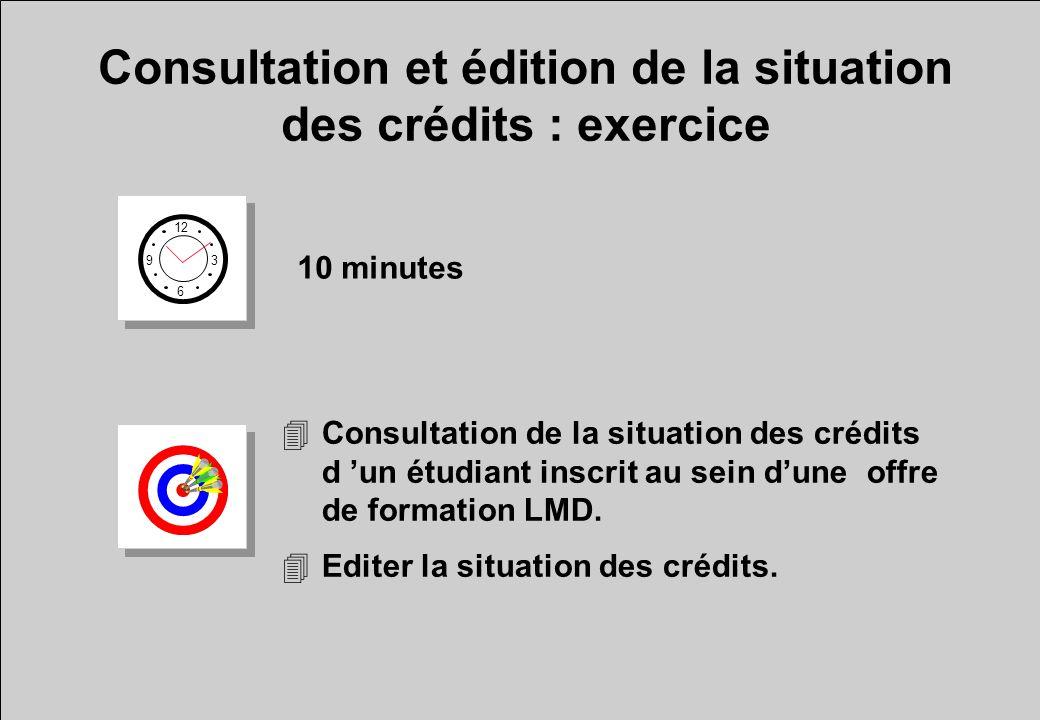 Consultation et édition de la situation