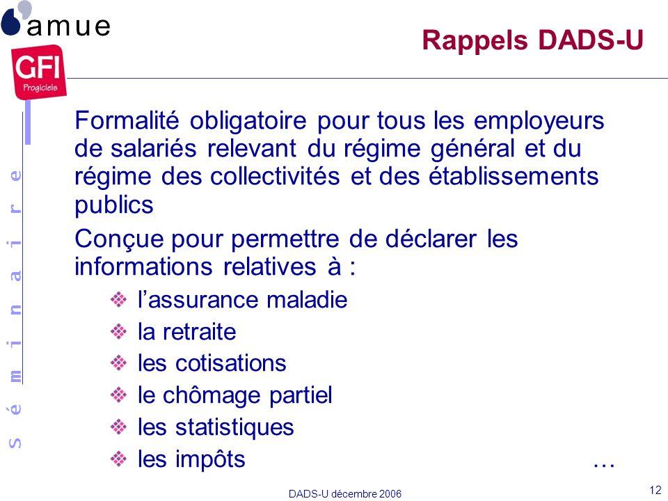 Rappels DADS-U