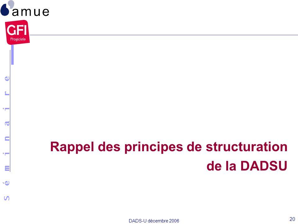 Rappel des principes de structuration