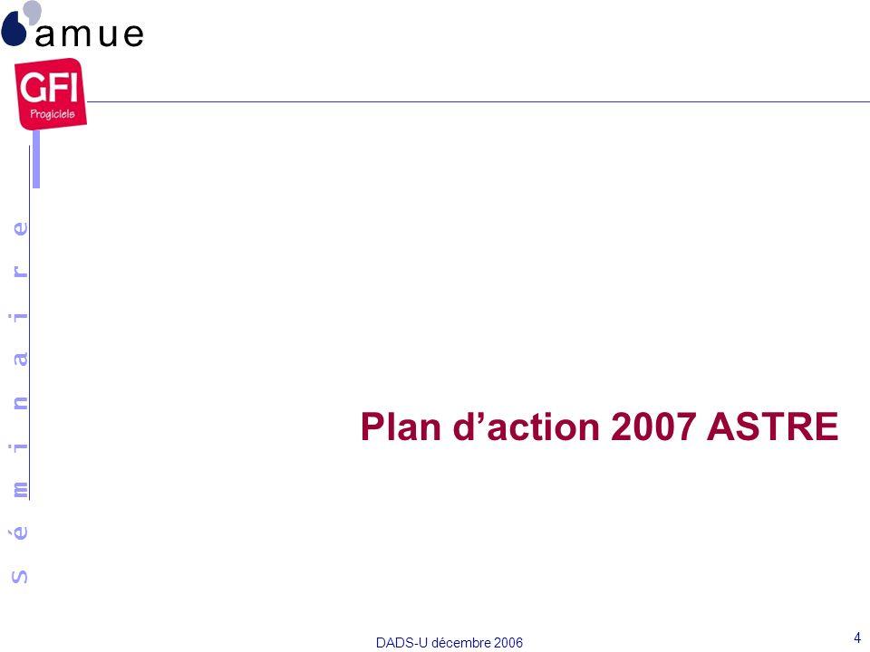Plan d'action 2007 ASTRE