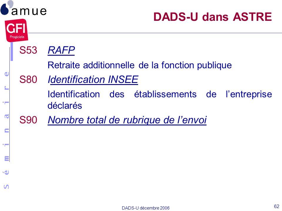 DADS-U dans ASTRE S53 RAFP