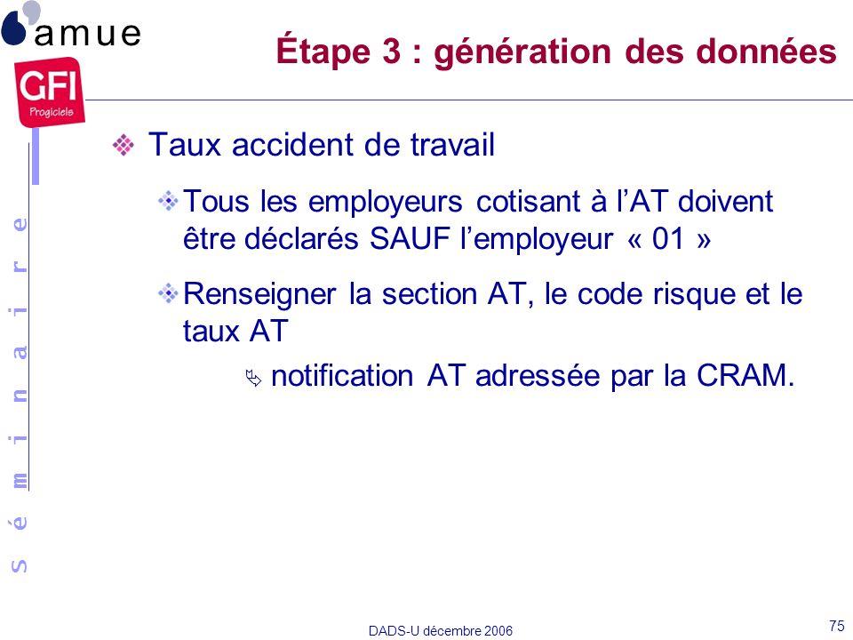 Étape 3 : génération des données