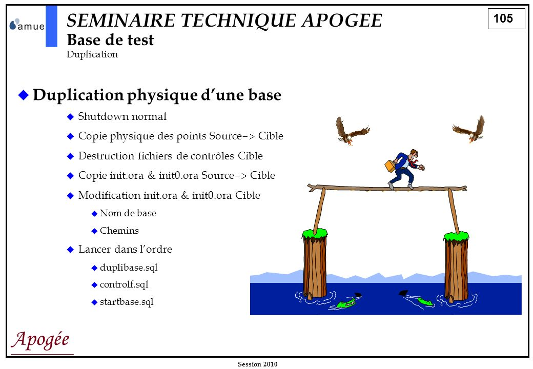 SEMINAIRE TECHNIQUE APOGEE Base de test Duplication