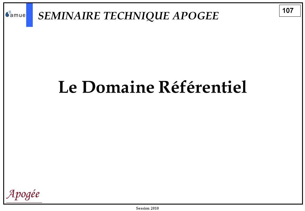 Le Domaine Référentiel