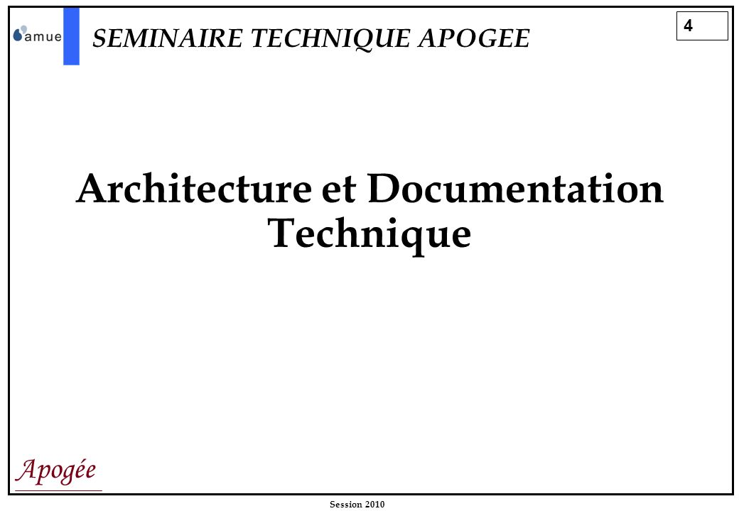 Architecture et Documentation Technique