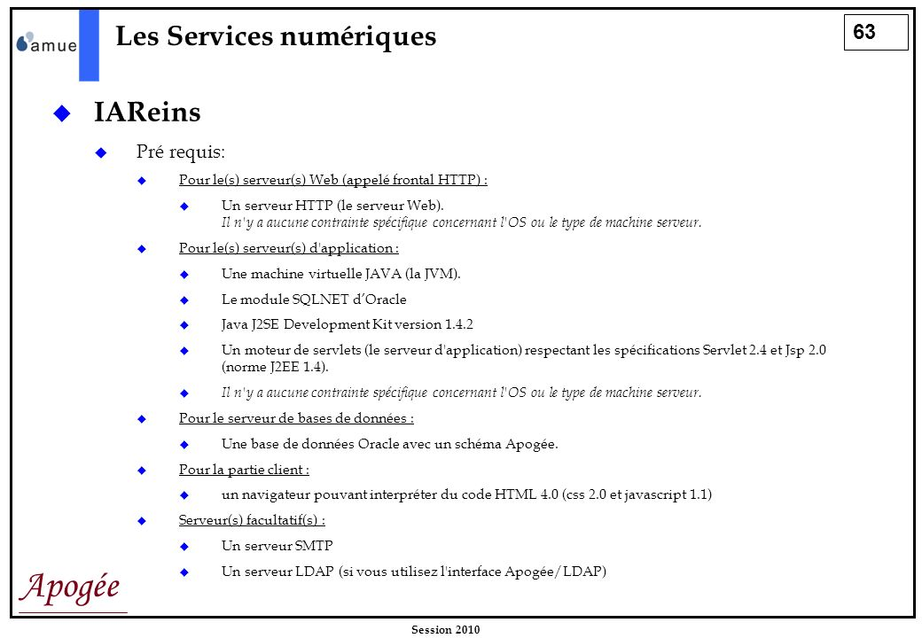 Les Services numériques