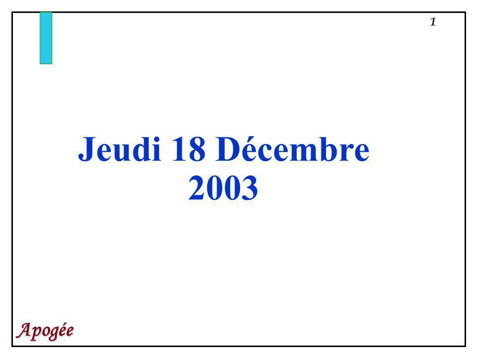 Jeudi 18 Décembre 2003