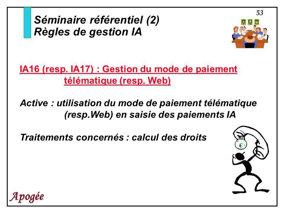 Séminaire référentiel (2) Règles de gestion IA