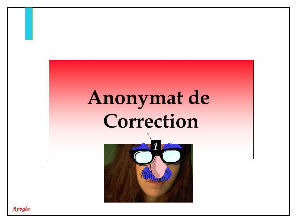 Anonymat de Correction