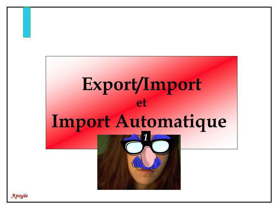 Export/Import Import Automatique