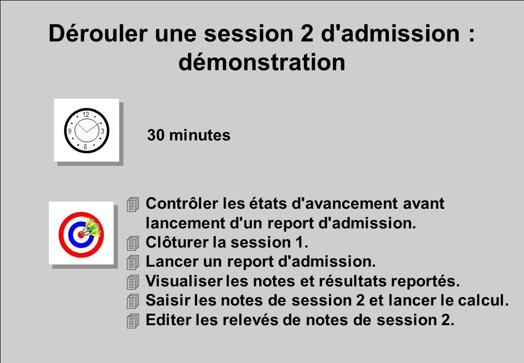 Dérouler une session 2 d admission : démonstration