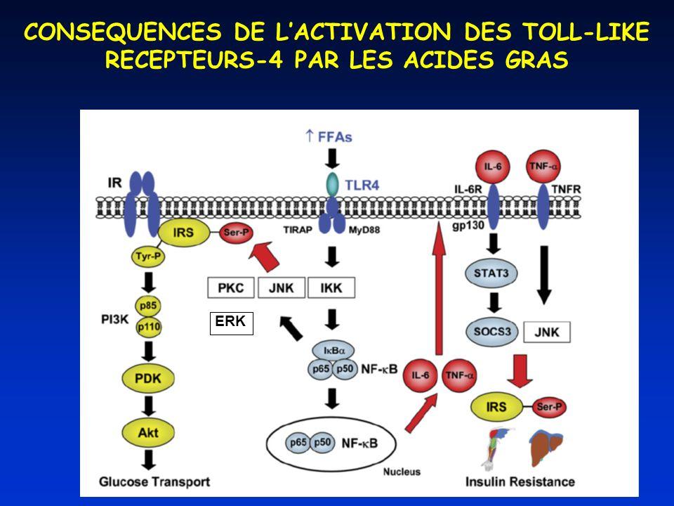 CONSEQUENCES DE L'ACTIVATION DES TOLL-LIKE RECEPTEURS-4 PAR LES ACIDES GRAS