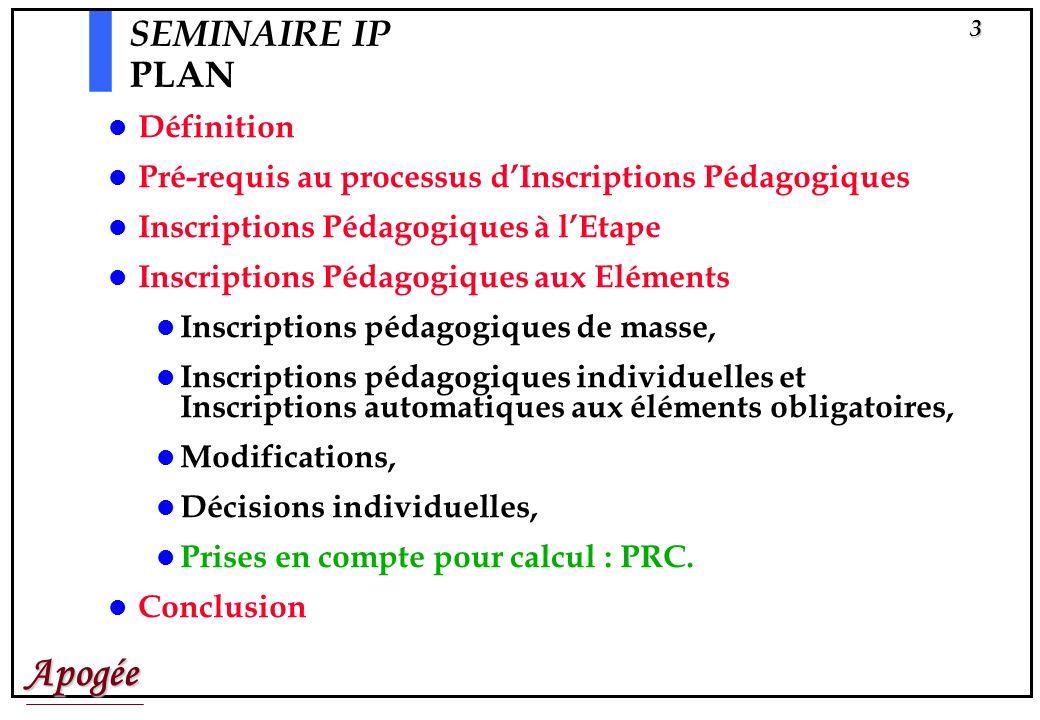SEMINAIRE IP PLAN Définition