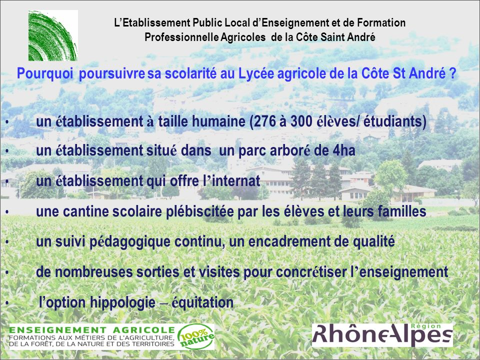 L'Etablissement Public Local d'Enseignement et de Formation